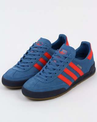 Adidas Jeans Mk2 Trainers in Royal Mist Blue & Red - Adidas Originals, retro