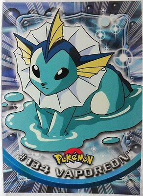 """TOPPS trading cards collection series 2a 2000 """"Vaporeon n° 134"""" normale"""