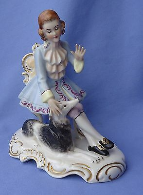Antique Dresden Prince W Borzoi Germany 6""