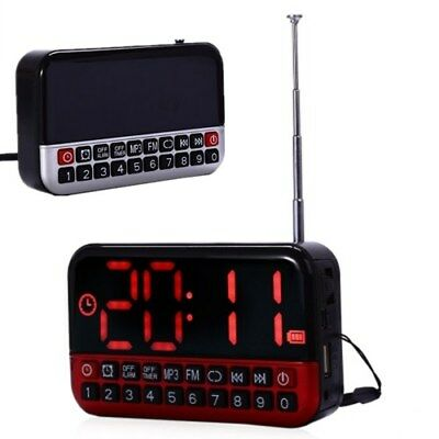 LCD Screen Personalize Portable Multi-function LED Alarm Clock Radio MP3 Speaker