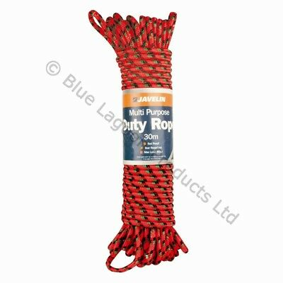 30m Heavy Duty Multi Purpose Braided Rope Tear Resistant Rot Proof Max Load 80KG