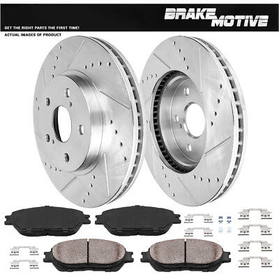 For IS250 Toyota Avalon Camry Sienna Solara Front DRILLED /& SLOTTED Brake Rotors