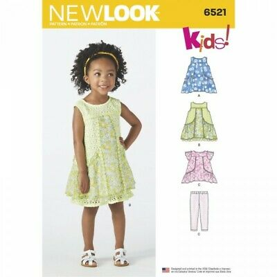 New Look Toddler Dress, Tunic and Trousers Sewing Pattern 6521