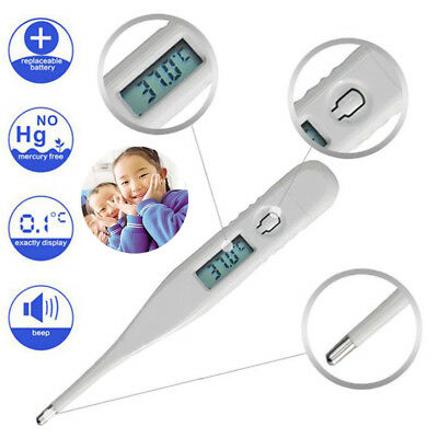 Adult Child Body Digital LCD Thermometer Temperature Measurement USSP White