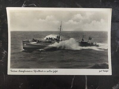 Mint Germany navy RPPC U Boat Picture Postcard Submarine At The Sea