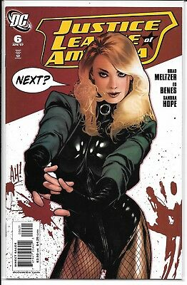 Justice League of America # 6, Black Canary Variant Cover by Adam Hughes
