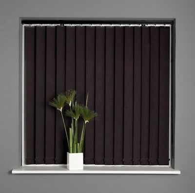SHEER WHITE Voile Ready Made Vertical Blinds Can be Cut NEW 3 sizes Complete