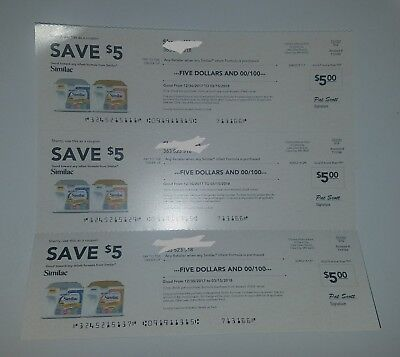3 Similac Checks / Coupons for $15 of Infant Formula