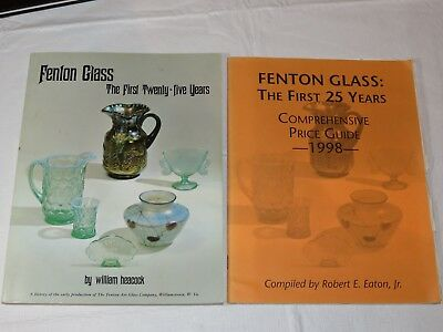 Fenton Glass First Twenty-Five Years by William Heacock Book w/ price guide ~