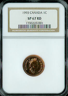 1997 Canada Cent Ngc Sp-67 Red  Spotless *