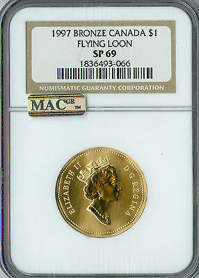 1997 Canada $1 Flying Loon Ngc Sp-69 Pq Finest Graded Spotless  *