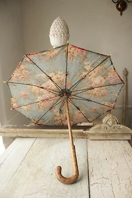 Vintage  French umbrella floral parasol c 1920-1930