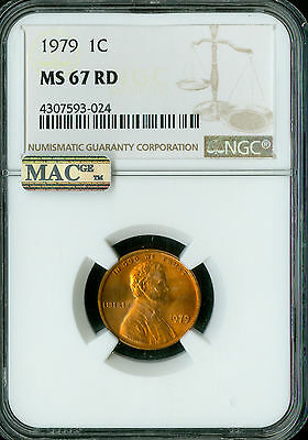 2018-D LINCOLN CENT NGC MAC MS67 PQ  2ND FINEST GRADE SPOTLESS .