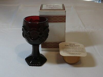 Avon 1876 Cape Cod Collection Wine Goblet Fragrance Candlette Holder Bayberr NOS