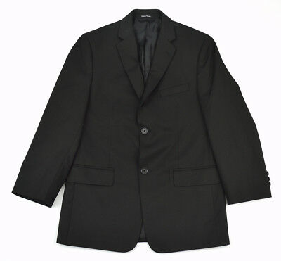 JOSEPH & FEISS Boy's Black Fully Lined 2-Button Dual Vent Sportcoat Jacket ~ 18R