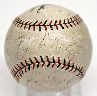 Babe Ruth Signed Autographed Baseball Onl Ball 1927 Yankees Gehrig Psa/dna 09260