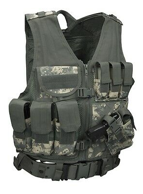 US ACU MOLLE ARMY CROSSDRAW TACTICAL Combat AT Digital ASSAULT Weste Vest