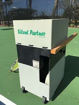 Silent Partner Sports Tennis Ball Machine with charger cord, battery $1100