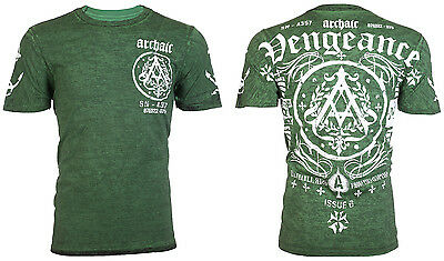 ARCHAIC by AFFLICTION Mens T-Shirt PEOPLE Biker Gym MMA UFC American Fighter $40
