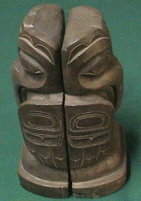 Vintage Griffin's Alaska Amos Wallace Totem Figure Bookends