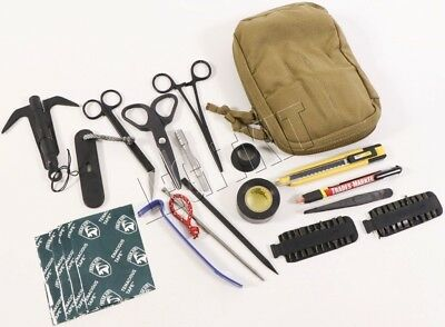 Zero Point Tactical IED Kit 1st Line TIK.1 Pouch Tool Set Navy E0D Coyote Brown