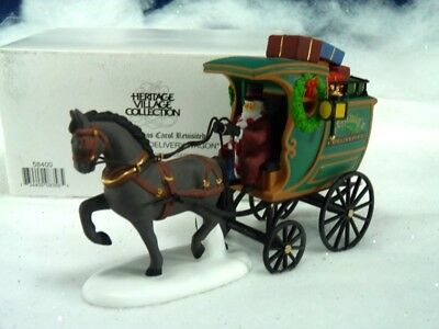 Dept 56 Dickens Village Fezziwig Delivery Wagon 58400 (a707)