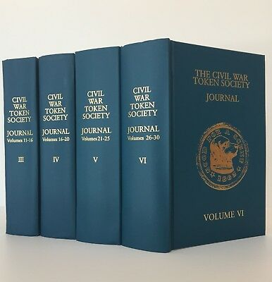 The Civil War Token Journal, Volumes III to VI on official reprint volumes