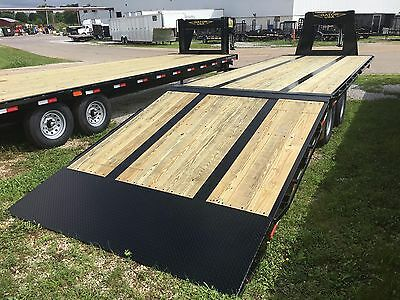 Gator Made 20+10 Trailers Hydraulic dovetail, gooseneck tandem dual Flat bed
