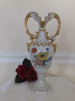 VINTAGE Countess Collection BOHEMIAN ART GLASS VASE Gold Gilt Czech Republic