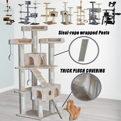 Cat Tree Furniture Scratcher Poles Post House Gym Condo 1.7 to 2.6m
