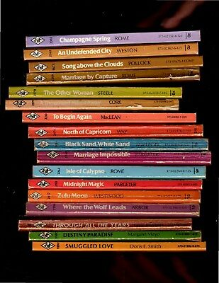 LOT OF 17 vintage Harlequin Romance  paperback books FREE SHIPPING