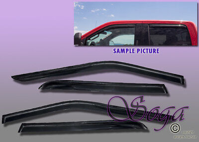 For 2015-2018 Ford F150 Super Crew Cab Smoked Window Visor Wind Deflector Shade
