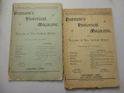 New England History Victorian Age Magazine Lot Massachusetts Maine Local 1897