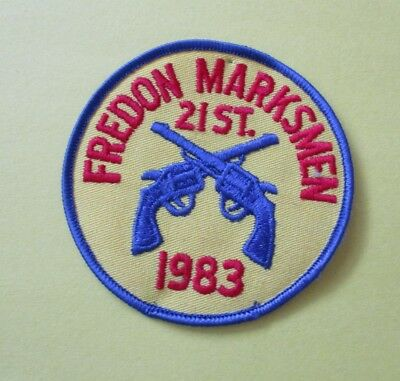 Fredon Marksmen 21th Annual Tournament 1983 New Police Patch