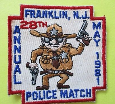 Franklin New Jersey 28th Annual Police Match Tournament 1981 Patch