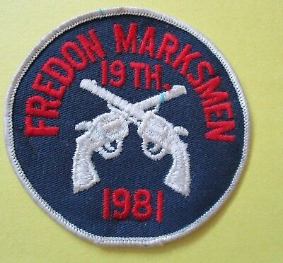 Fredon Marksmen 19th Annual Tournament 1981 New Police Patch