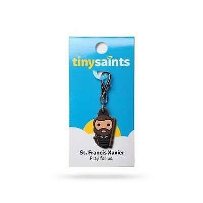 Tiny Saints St. Francis Xavier CHARM - Paracord, Bracelets, Backpacks, Gifts