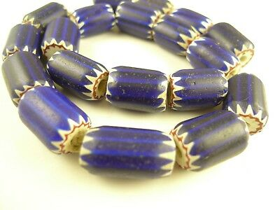 19 pcs large focal Venetian 4 layer chevron glass trade beads old Africa AC-0084