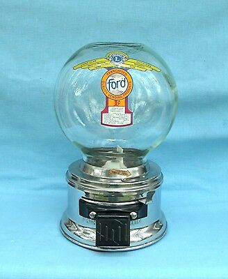1c Ford Glass Globe large Gumball vending Machine Lions Club Decal