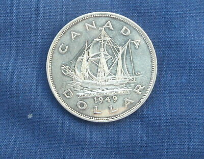 Canadian Silver Dollar 1949  High Grade