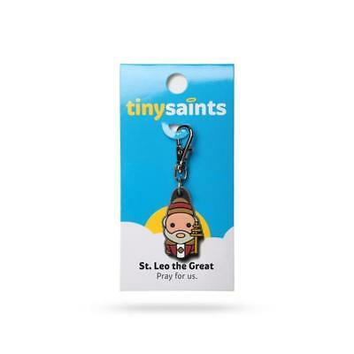Tiny Saints St. Leo the Great CHARM - Paracord, Bracelets, Backpacks, Gifts NEW