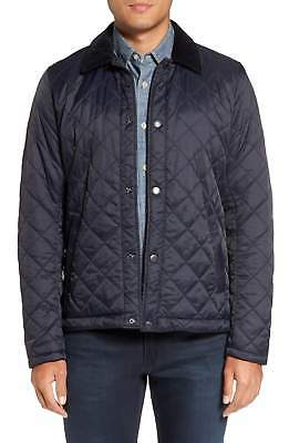 Barbour Men's Navy Holme Quilted Lightweight Jacket $249