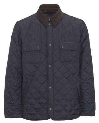 Barbour Men's Navy Tinford Quilted Lightweight Jacket