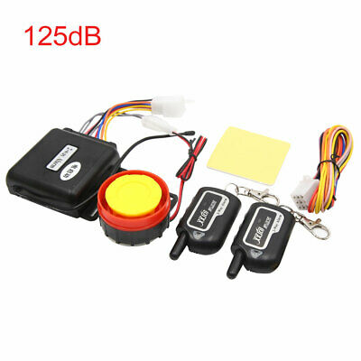 2-Way Motorcycle Anti-theft Alarm System Engine Start w Remote Control 125dB