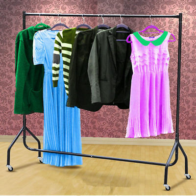Garment Clothing Rail Heavy Duty Hanging Rack Display Stand 5FT Single Clothes