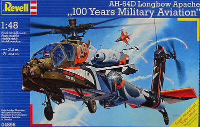 "REVELL® 04896 AH-64D Longbow Apache ""100 Years Military Aviation"" in 1:48"