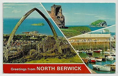 Postcard, E T W Dennis, N.0544, Greetings from North Berwick Multiview