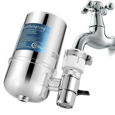 Water Filter For Kitchen Sink Or Bathroom Faucet Mount Filtration Tap Purifier