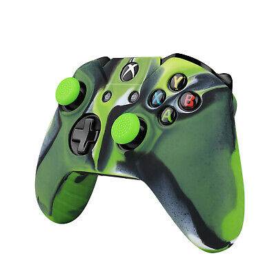 Xbox One S Xbox Controller Case Silicone Gel Protective Cover Grip, Mystic Green