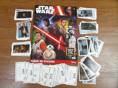 STAR WARS Reveil de la Force TOPPS stickers ALBUM + SET 1ere PARTIE COMPLET FULL